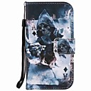 For Samsung Galaxy S7 edge S7 S6 edge S6 Skull Painting PU Phone Case S5 S4 S3