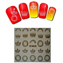 1sheet  Gold Nail Stickers XF6039