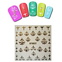 1sheet  Gold Nail Stickers XF6037