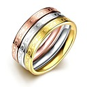 Ring Halloween Daily Casual Jewelry Titanium Steel Ring 1pc,6 7 8 9 Multi Color