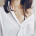 Women's Choker Necklaces Jewelry Geometric Copper Unique Design Dangling Style Pendant Euramerican Fashion Personalized Jewelry ForParty