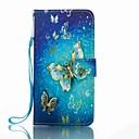 Für Geldbeutel Kreditkartenfächer mit Halterung Flipbare Hülle Muster Hülle Handyhülle für das ganze Handy Hülle Schmetterling HartPU -