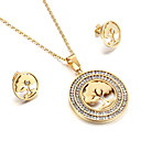 Kalen Women Fashion Jewelry Sets Stainless Steel Pakistani Gold Color Hollow Banyan Tree of Life Pendant Necklace And Earrings Sets