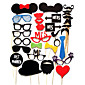 Card Paper Photo Booth Props Party Fun Favor Wedding 31pcs Costume Makeup / Costume Props & Kits / Holiday Decorations  Party MasksCool /