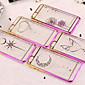 Diamond Pattern Transparent Shell for iPhone 6 Plus(Assorted Colors)