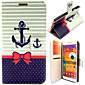 Anker und bowknot Muster mit Kartenbeutel Ganzkörper-Fall für Samsung Galaxy Note N9000 3