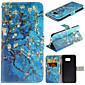 Apricot Blossom Pattern with Card Bag Full Body Case for Samsung Galaxy Note 5/ 5 Edge