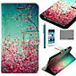 COCO FUN® Floral Pattern PU Leather Case with Screen Protector and USB Cable and Stylus for iPhone 6s 6 Plus