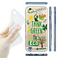 MAYCARI® The Green Earth Transparent Soft TPU Back Case for iPhone 6