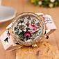 Woman Beautiful Flower Wrist Watch