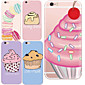 MAYCARI®Cute Desserts Soft Transparent TPU Back Case for iPhone 6/iphone 6S(Assorted Colos)