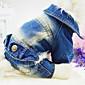 Dog Coat / Clothes/Jumpsuit / Denim Jacket/Jeans Jacket Blue / Dark Blue Dog Clothes Spring/Fall Jeans Fashion