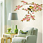 Peach branches Oriole Wall Stickers
